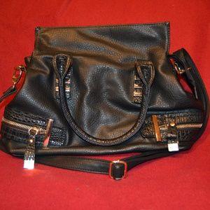 Handbags - SALE Black Faux Leather Bag
